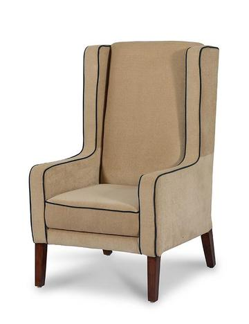 Europea Scott Wing Chair in Beige Colour