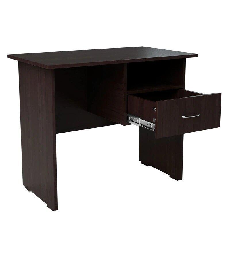 Shelly Study Table in Wenge Colour by Cupboard
