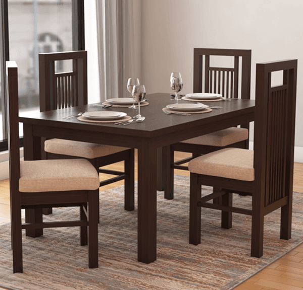 Woodway Solid Wood Dining Table Set in Wenge Finish by Woodsworth