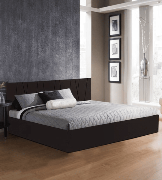 Axis Wooden Bed with Storage in Matte Finish
