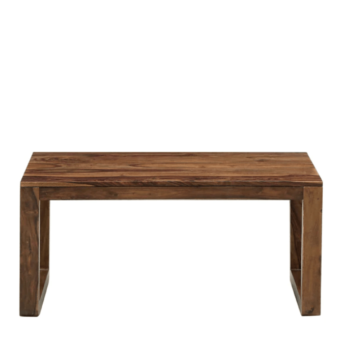 Tron Solid Wood Coffee Table in Provincial Teak Finish