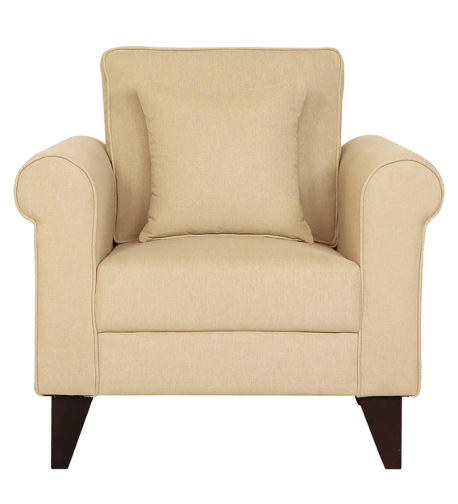 Fuego 1 Seater Sofa in Beige Colour by CasaCraft