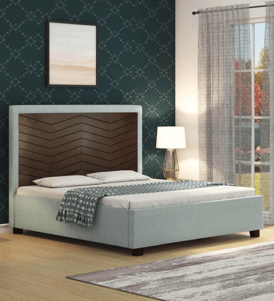 Bautista King Size Bed in Grey Colour by Casacraft