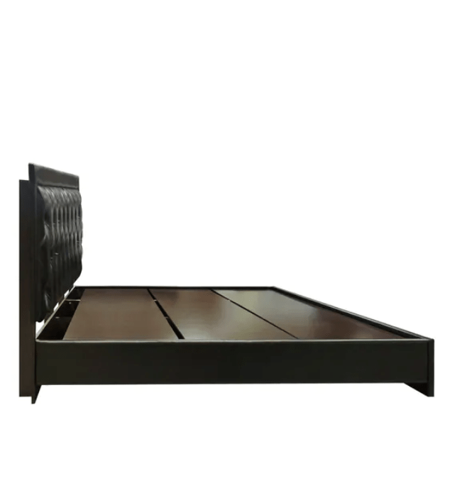 Milton Upholstered King size Bed in Black Colour