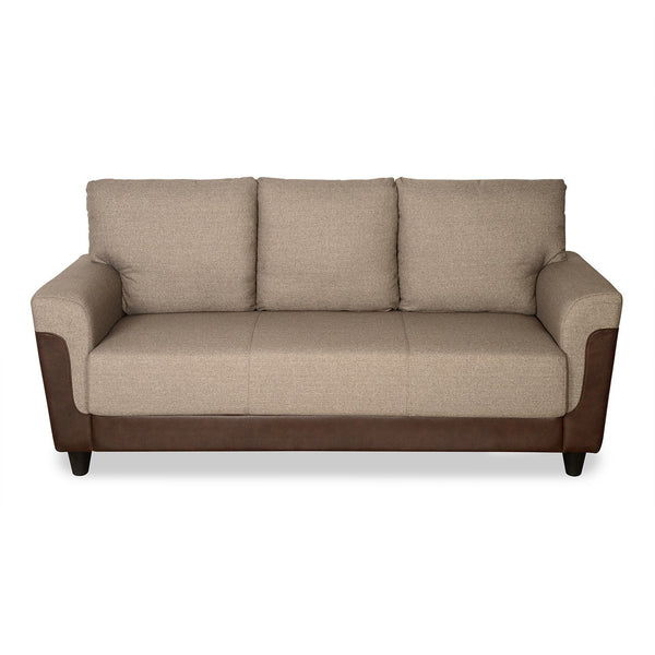 Saviour Sofa Set in Beige & Brown Colour by Homies