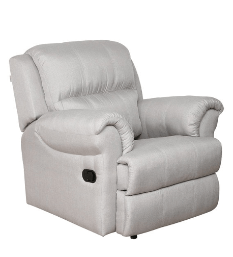 Cami 1 Seater Recliner in Light Grey Colour by CasaCraft