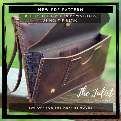 Free Clutch Wallet Leather Pattern for the first 50 downloads