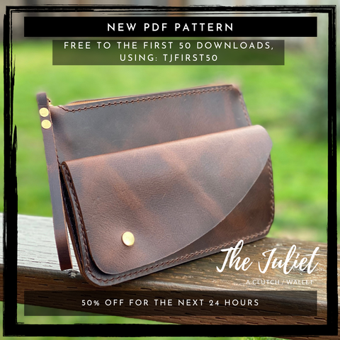 Free Clutch Wallet Leather Pattern for the first 50 orders!