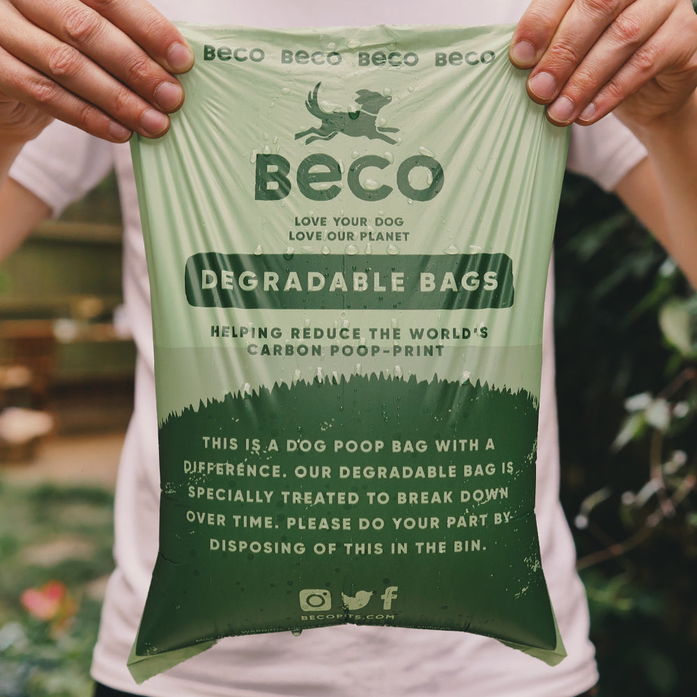 Beco Degradable Poop Bags, Unscented, 60 Pack, Big and Strong