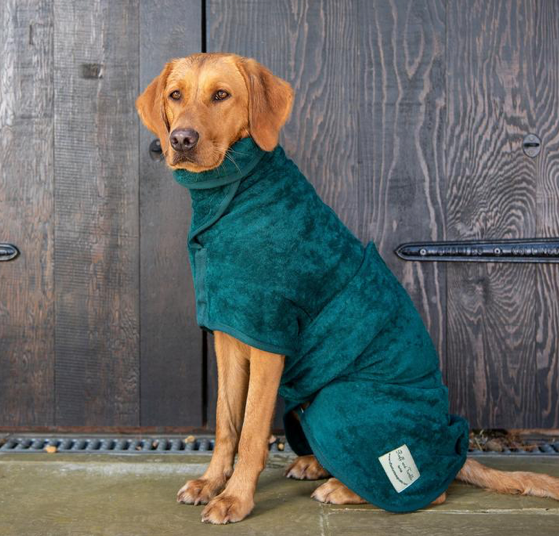Ruff & Tumble - Classic Dog Drying Coat (fabric trim)