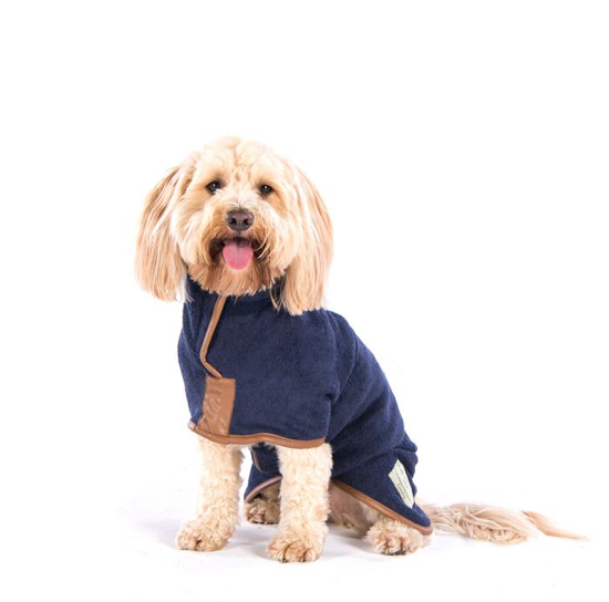 Ruff & Tumble - Country Dog Drying Coat (faux leather trim)