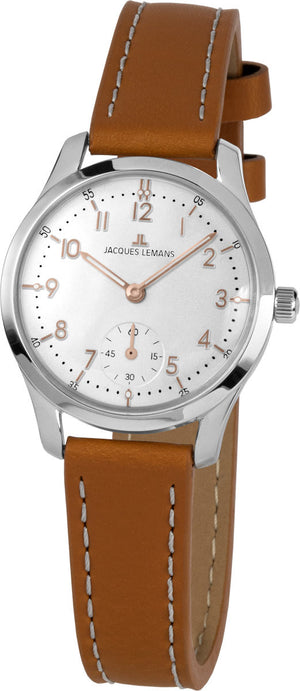Jacques Lemans, Retro Classic, 1-2065D, Lederband