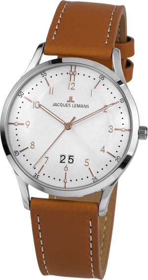 Jacques Lemans, Retro Classic, 1-2066D, Lederband, Herrenuhr