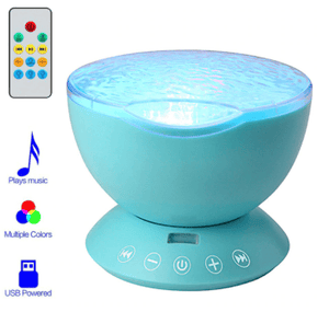 Water Wave LED Projector Light Bluetooth Sound Activated