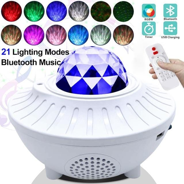 Starry Night Light Projector Bluetooth Sound Activated