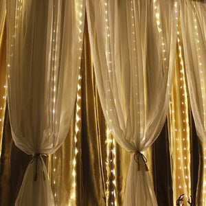 300LED Remote Control Curtain String Lights