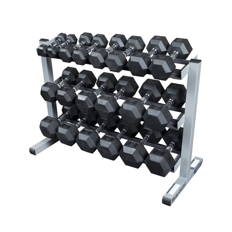 AgileFit Rubber Hex Dumbbell Set 5-50lb