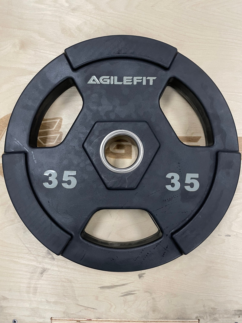 AgileFit Laser Rubber Olympic Grip Plates