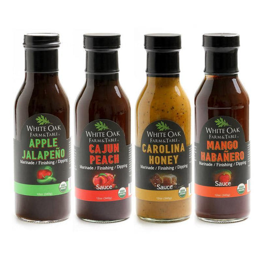 White Oak Farm and Table Assorted Marinade and Dipping Sauces