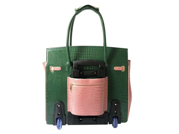 Pink & Green Attaché Trolley