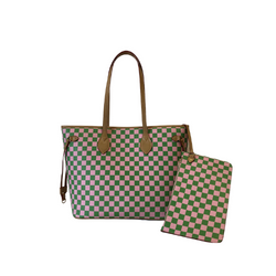 P&G Checkerboard Handbag