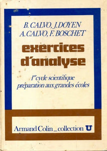Exercices d'analyse - Collectif -  U.. - Livre