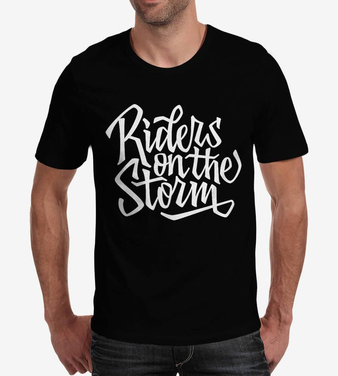 Riders On the Storm - Men's Round Neck Cotton T-Shirts by Obsession Inspired