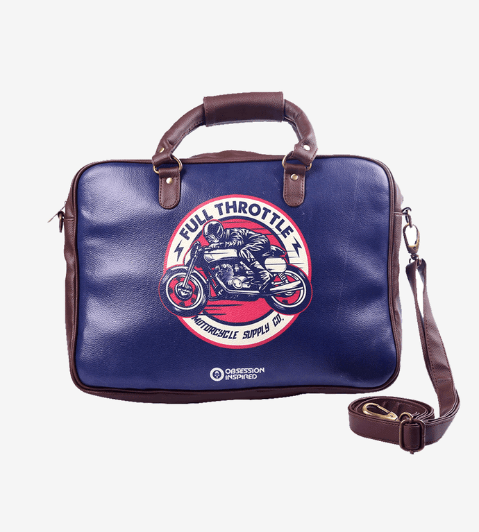 Full Throttle 15.5 to 17 Inch Laptop Bag / Messenger Bag by Obsession Inspired