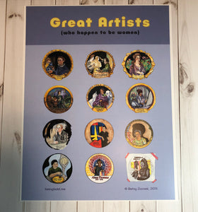 Great Women Artists Poster