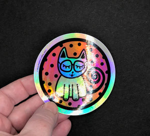 Holographic Cat Sticker