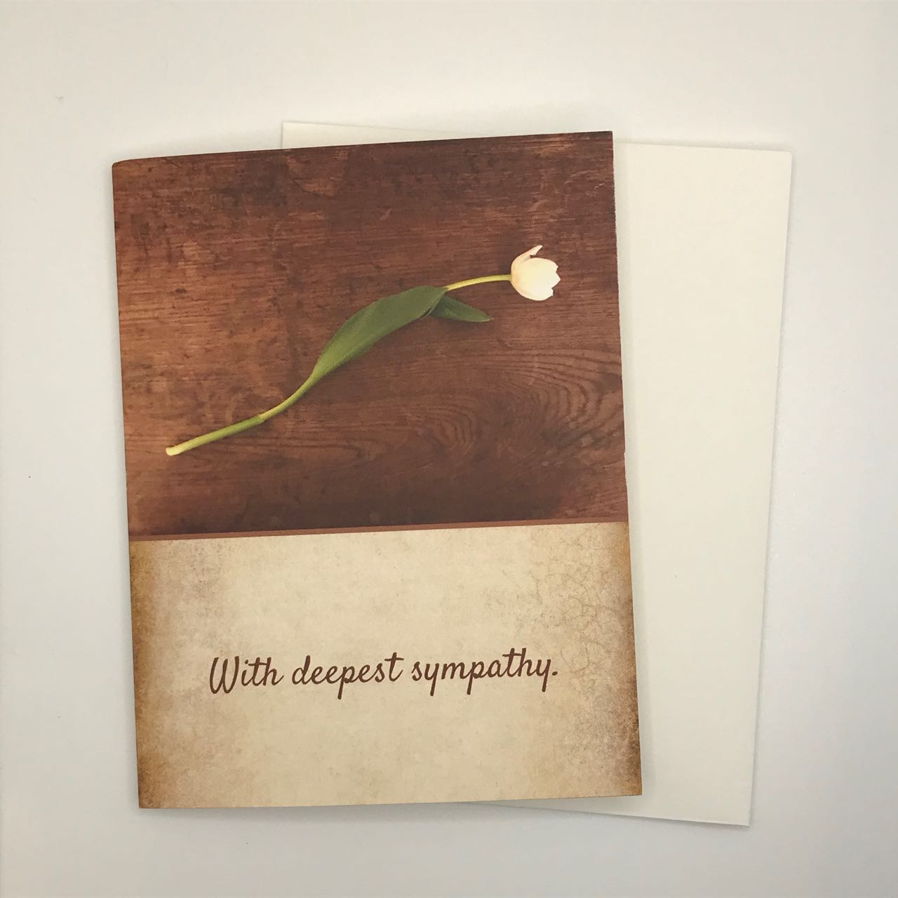 Sympathy Card with Single Tulip