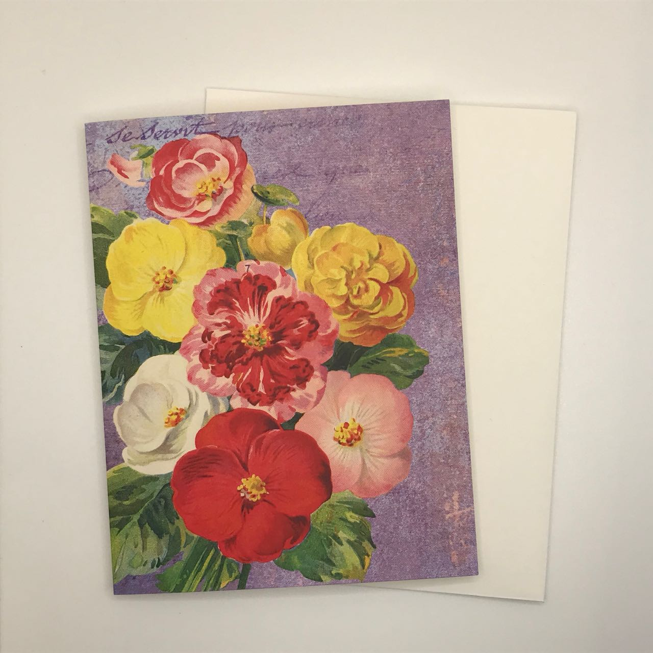 Vintage Floral Greeting Card