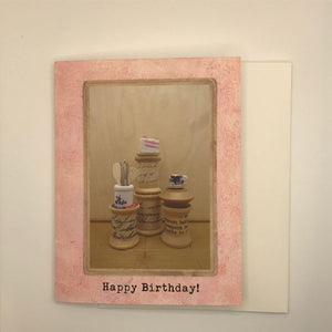 Happy Birthday Miniature World Greeting Card
