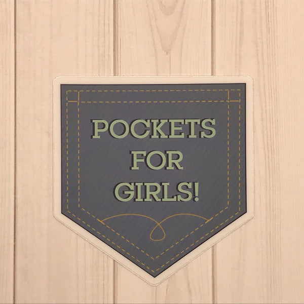 Pockets for Girls! Vinyl Decal