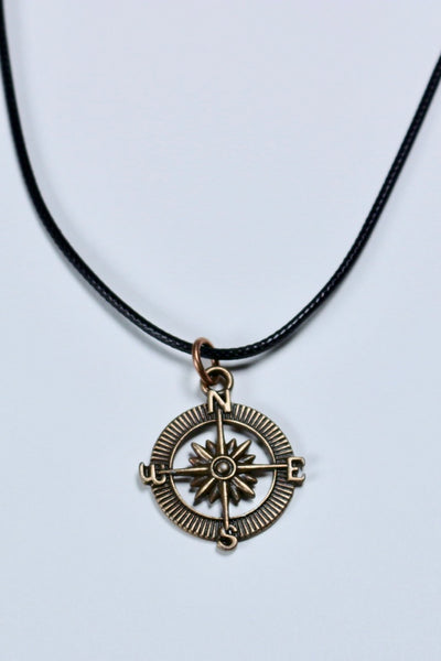 Follow Your Curiosity Compass Necklace
