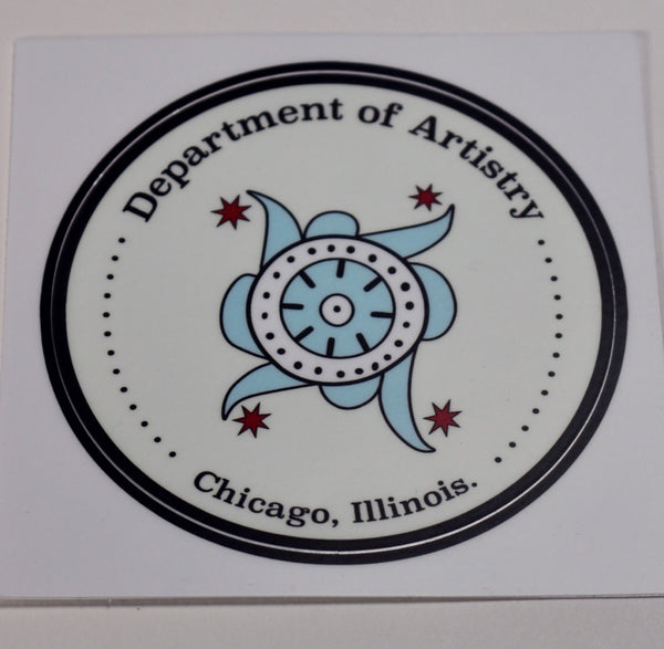 Department of Artistry, Chicago, IL Vinyl Sticker