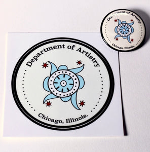 Department of Artistry Vinyl Sticker & Button