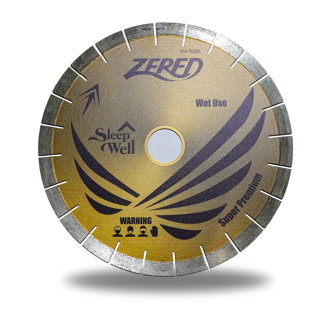Zered™ Premium GOLD Bridge Saw Diamond Blade for Quartzite - Bridge Saw Q20
