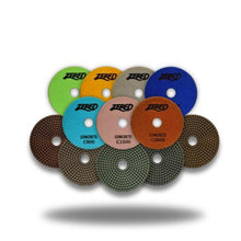 "Load image into Gallery viewer, Zered™ 3"" Concrete Polishing Pad 7 Step"