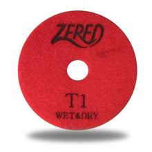 "Load image into Gallery viewer, Zered™ Super-Premium 4"" T-Series 3 Step Polishing Pad for Granite and Quartz"