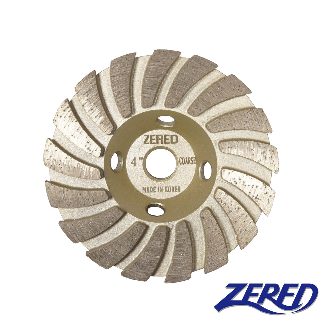 Zered™ GOLD Diamond Grinding Turbo Cup Wheel for Granite, Quartz and Hard Stone