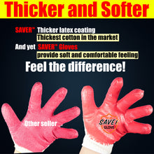 Load image into Gallery viewer, Zered™ Premium RED Latex Rubber Palm Coated Work Glove