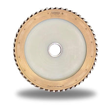 "Load image into Gallery viewer, ZERED 14"" Milling Wheel for Bridge Saw Bed - Teflon Body with Nylon, MW"