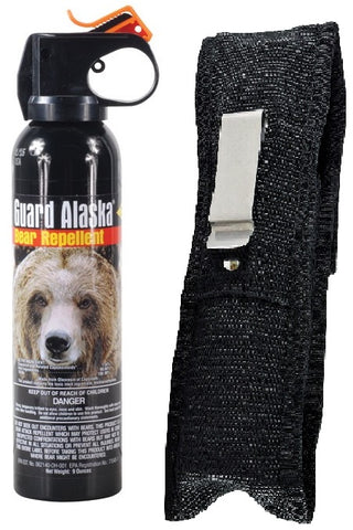 Guard Alaska Bear Spray Repellent & Tactical Belt Clip Holster