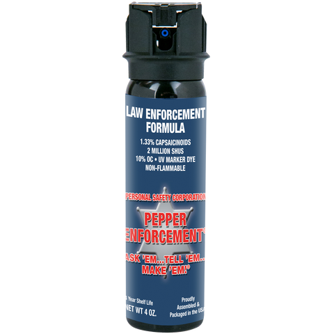 Pepper Enforcement® Brand Pepper Spray Law Enforcement Formula - 4 oz canister