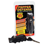 Pepper Defense® Brand Self-Defense Spray | 1/2 oz. Unit | Black Holster