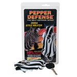Pepper Defense® Brand Self-Defense Spray | .5 Oz. Unit | Zebra Style Holster
