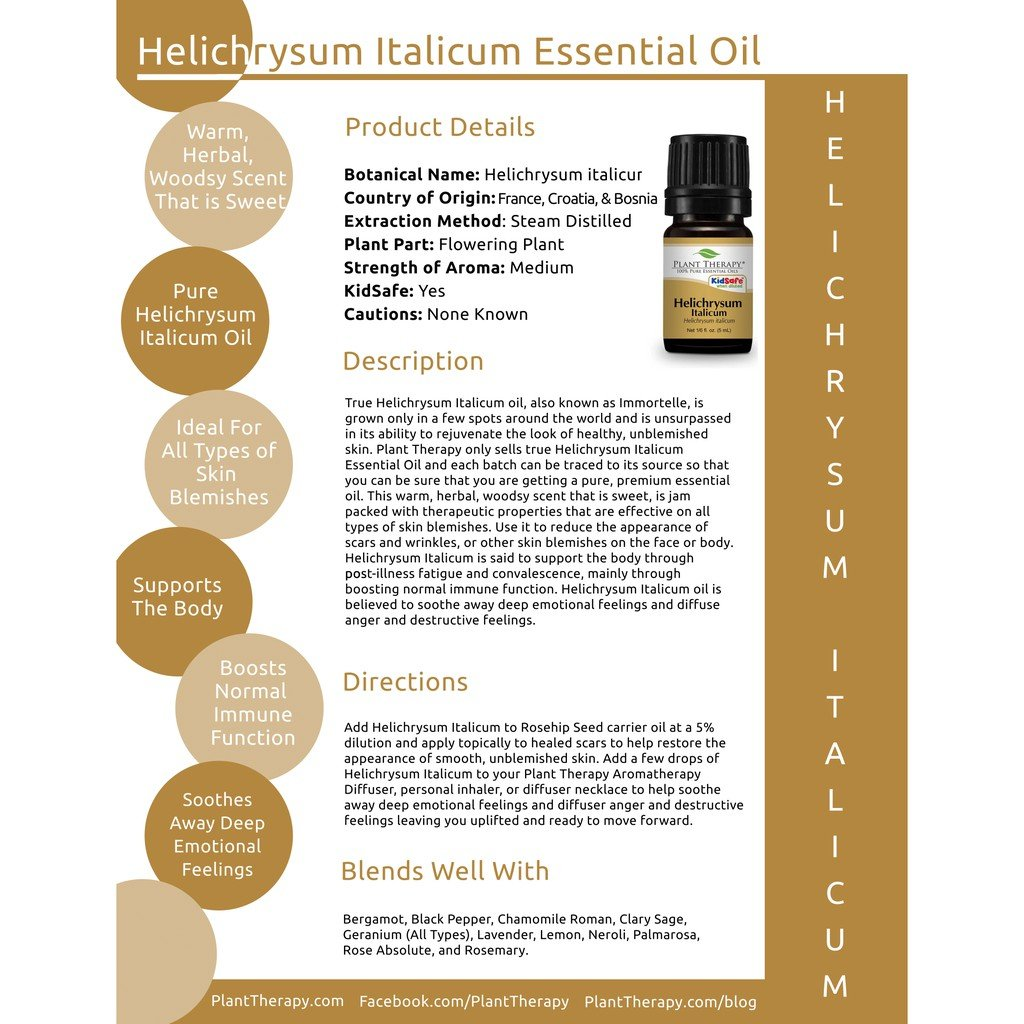 Plant Therapy Helichrysum Italicum Essential Oil