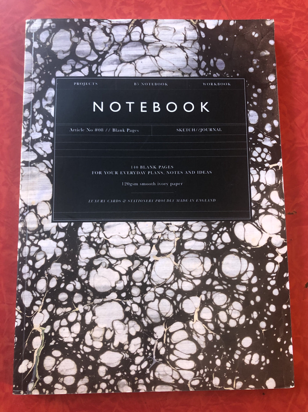 Katie Leamon Black Marble Notebook