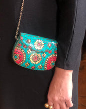 Load image into Gallery viewer, Moroccan Mosaic Bag (Handmade) - Turquoise